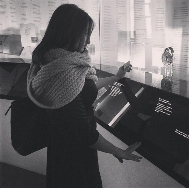 Посетитель в музее Анны Ахматовой