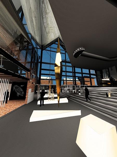3-D модель внутреннего оформления музея