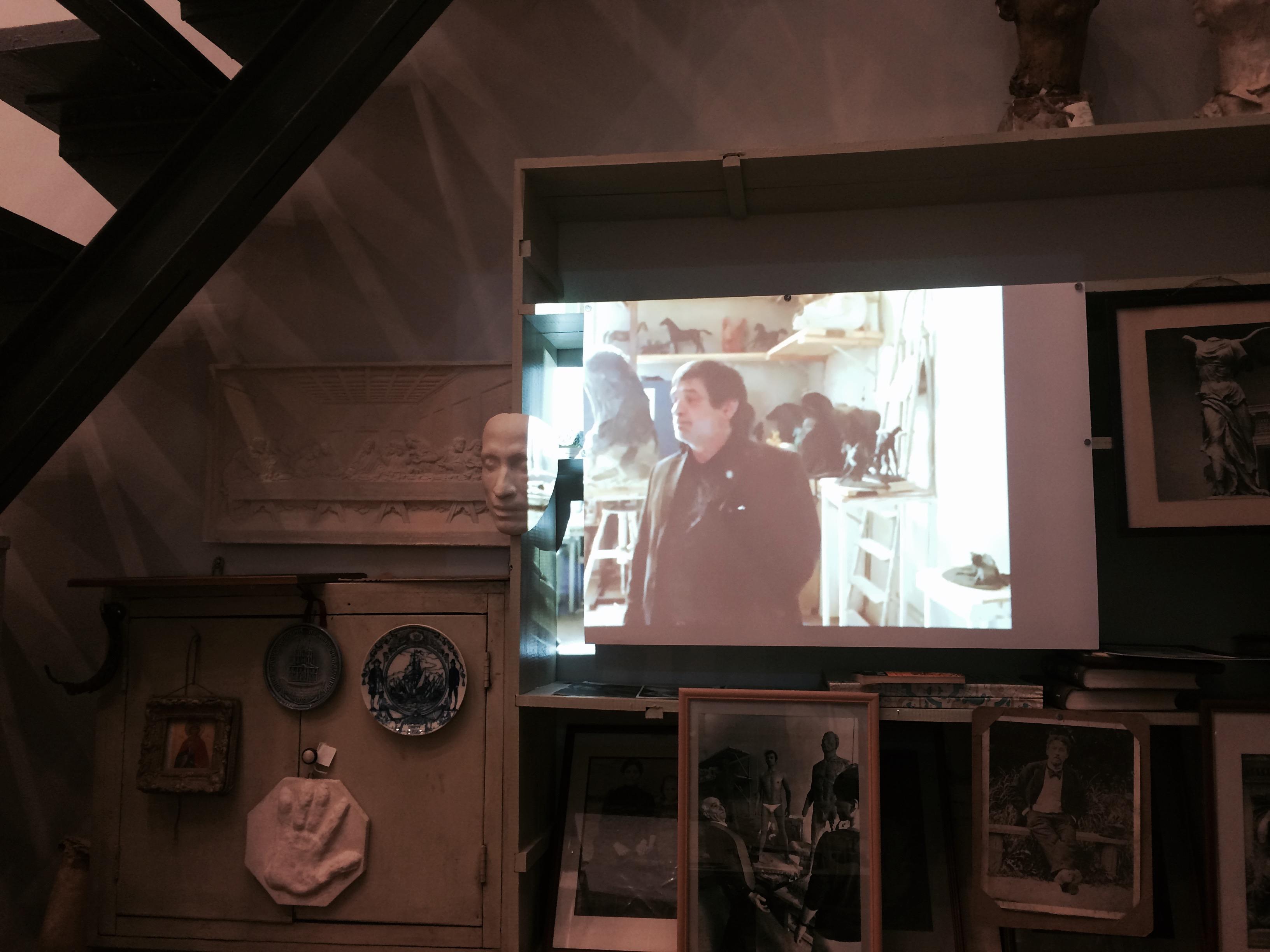 Проекция фильма об М.К. Аникушине