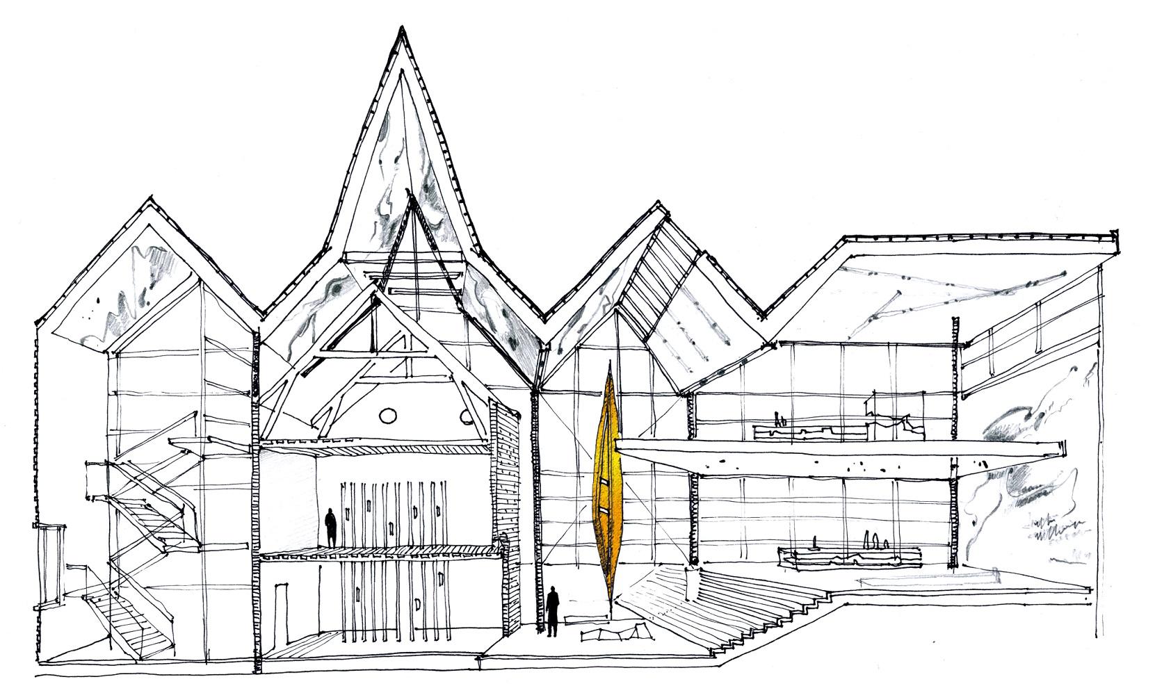 Эскиз зонирования музея